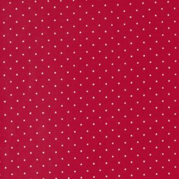 Candy Cane Lane 24106-56 Cardinal Twinkle Dot Star by Moda Fabrics