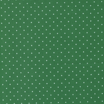 Candy Cane Lane 24106-57 Evergreen Twinkle Dot Star by Moda Fabrics