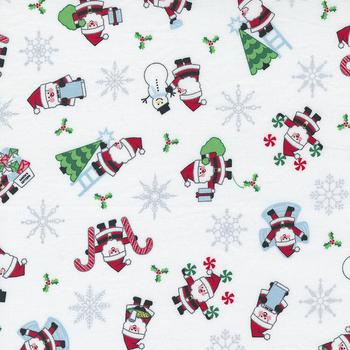 Candy Cane Lane 24120-12 Snow Santa Novelty Snowman by Moda Fabrics