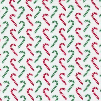 Candy Cane Lane 24124-11 Snow Multi Candy Canes by Moda Fabrics