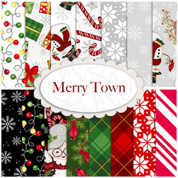 Merry Town  Yardage by Sharla Fults for Studio E Fabrics