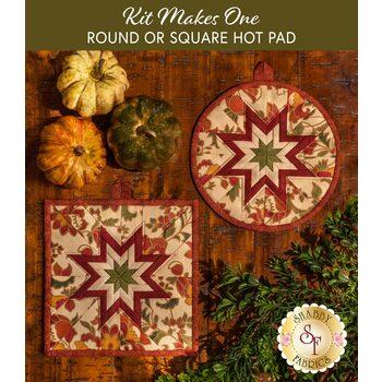 Folded Star Hot Pad Kit - Round OR Square - Spice Bazaar - Cream