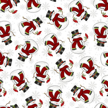 Merry Town 6365-8 White by Sharla Fults for Studio E Fabrics