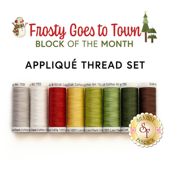 Frosty Goes to Town BOM - 8pc Applique Thread Set - RESERVE