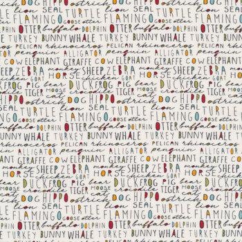 Animal Crackers 5804-15 Vanilla by Sweetwater for Moda Fabrics