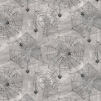 Boo Y'all 19562-GRY Grey by 3 Wishes Fabric