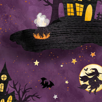 Boo Y'all 19565-PUR Purple by 3 Wishes Fabric