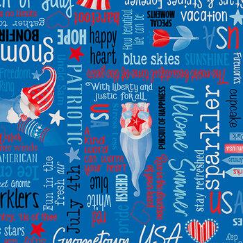 All American Gnomes 12721-54 Blue by Kanvas Studio