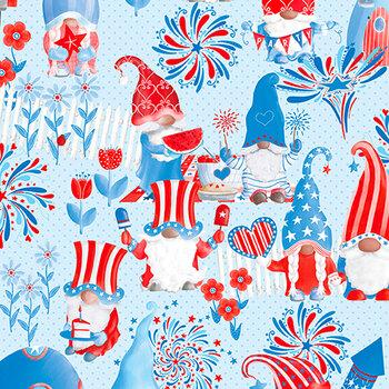 All American Gnomes 12722-05 Light Blue by Kanvas Studio
