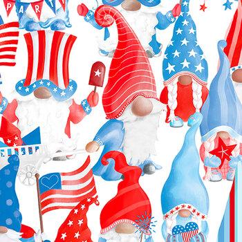 All American Gnomes 12723-09 White by Kanvas Studio