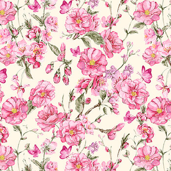 Judy's Bloom 13552-26 Rose by Benartex