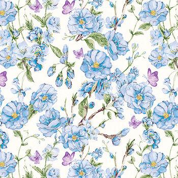 Judy's Bloom 13552-50 Blue by Benartex