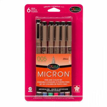 Micron 005 Pen Set - 6 Colors