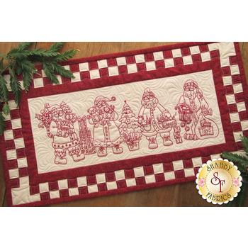 Santa Quartet Table Runner CD for Machine Embroidery