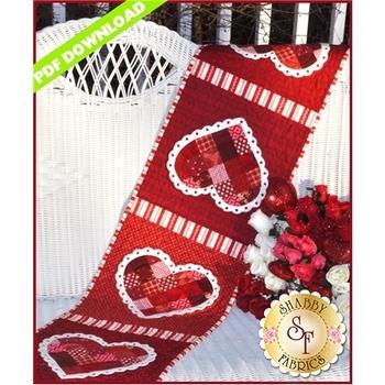 Patchwork Valentine Table Runner - PDF DOWNLOAD