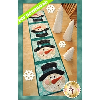 Patchwork Snowman Table Runner - PDF DOWNLOAD