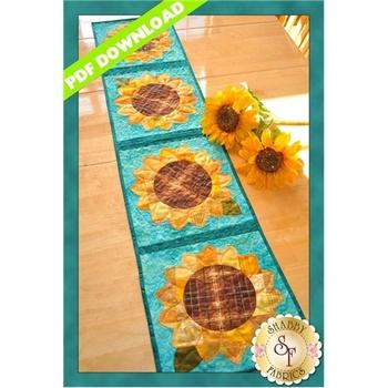 Patchwork Sunflower Table Runner - PDF DOWNLOAD