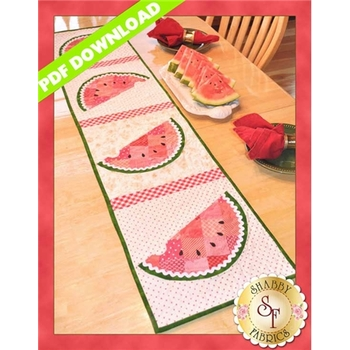 Patchwork Watermelon Table Runner - PDF DOWNLOAD