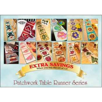Patchwork Table Runner Series - Set of 12 Patterns