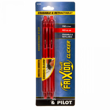 Frixion Clicker Pen 2 Pack - .7mm Red