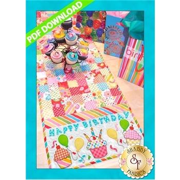 Happy Birthday Table Runner Pattern - PDF Download