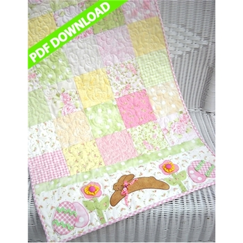 Easter Bunny Table Runner Pattern - PDF Download