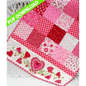 For My Valentine Table Runner Pattern - PDF Download