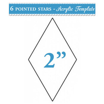 2 inch 6 point Star Acrylic Template