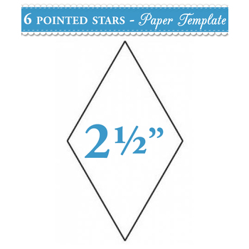 2 1/2 inch 6 point Star Papers - 100 count