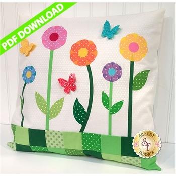 Fluttering Butterfly Pillow - PDF DOWNLOAD