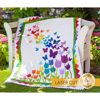 Blooming Butterflies Quilt Kit - Laser Cut