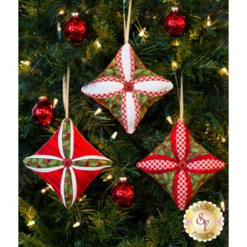 Cathedral Window Ornaments Kit - Makes 3