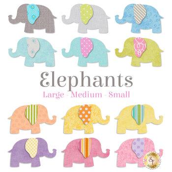 Laser Cut Elephants - 3 Sizes Available!