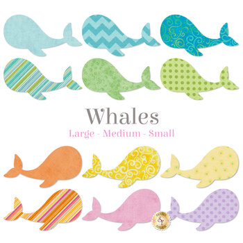 Laser Cut Whales - 3 Sizes Available!