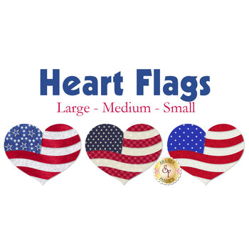 Laser Cut Heart Flags - 3 Sizes Available!