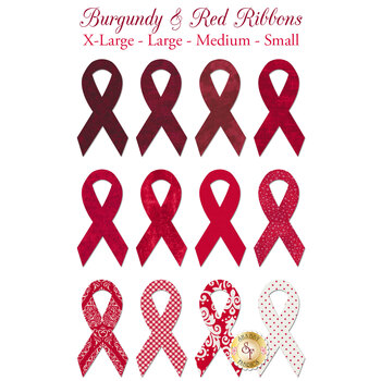 Laser Cut Burgundy & Red Ribbons - 4 Sizes Available!