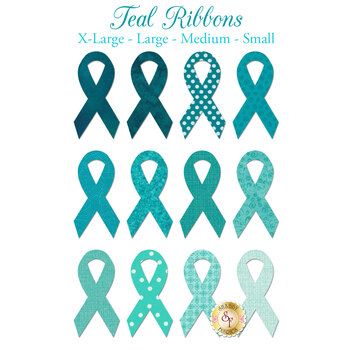 Laser Cut Teal Ribbons - 4 Sizes Available!