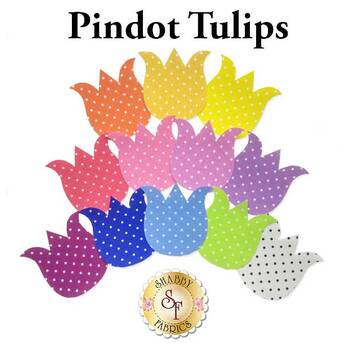 Laser Cut Pindot Tulips - 4 Sizes Available!