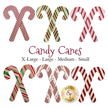 Laser Cut Candy Canes - 4 Sizes Available!