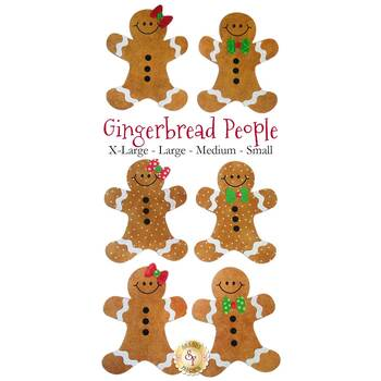 Laser Cut Gingerbread People - 4 Sizes Available!