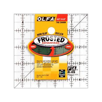 Olfa Frosted Acrylic Ruler 4 1/2
