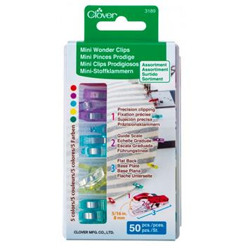 Clover Mini Wonder Clips - Assorted Colors 50ct