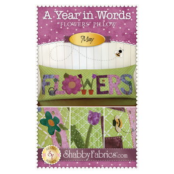 A Year In Words Pillows - Flowers - May - Pattern