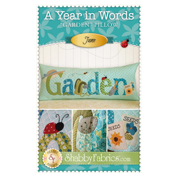 A Year In Words Pillows - Garden - June - Pattern