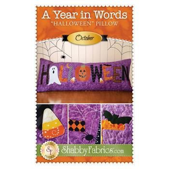 A Year In Words Pillows - Halloween - October - Pattern