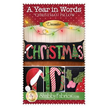 A Year In Words Pillows - Christmas - December - Pattern