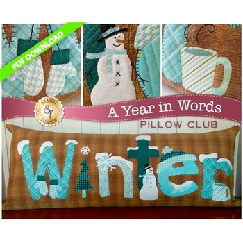 A Year in Words Pillows - Winter - January - PDF Download