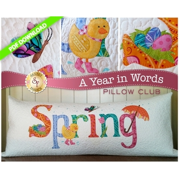 A Year in Words Pillows - Spring - April - PDF Download