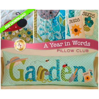 A Year in Words Pillows - Garden - June - PDF Download