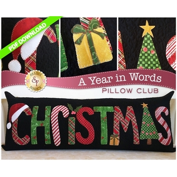 A Year in Words Pillows - Christmas - December - PDF Download